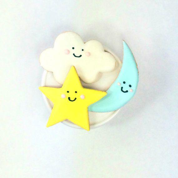 Twinkle Twinkle Little Star Cookies by PSSweet on Etsy
