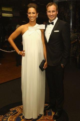 Jude Bolton at the 2011 Brownlow dressed in a Briggins Tuxedo.