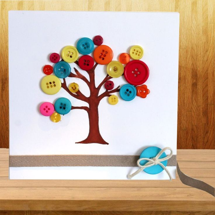 Button Tree Card | Craft Ideas & Inspirational Projects | Hobbycraft - could be make into a cute xmas card