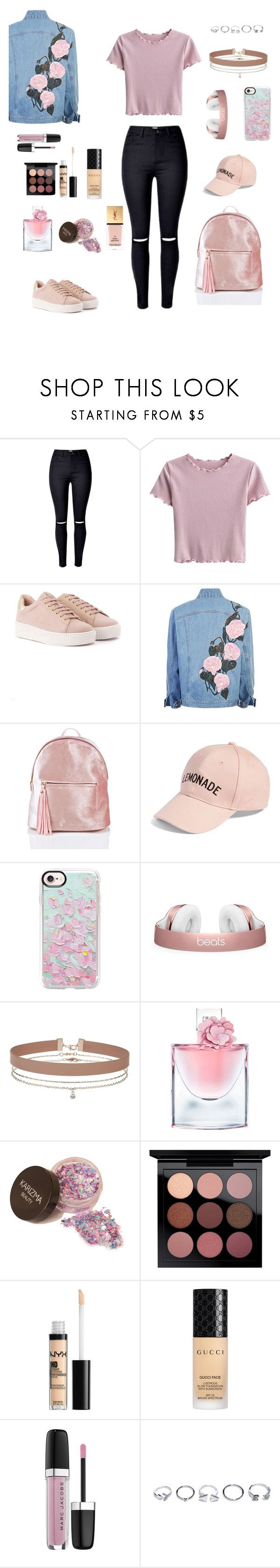 """""""Untitled #268"""" by natalyholly on Polyvore featuring Amici Accessories, Casetify, Miss Selfridge, Lancôme, Gucci, Marc Jacobs, GUESS and Yves Saint Laurent"""
