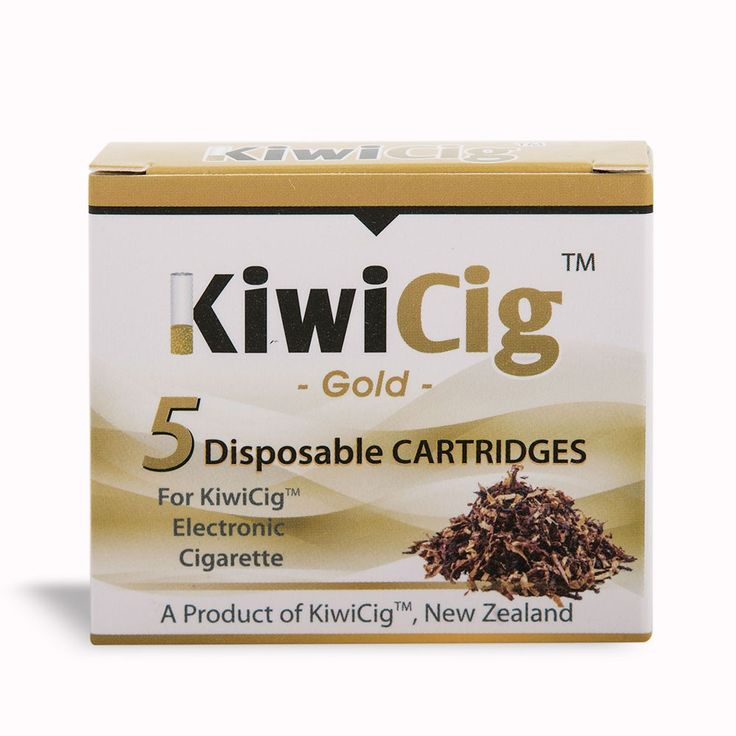 KiwiCig™ cartridges: GOLD (similar to B&H flavour): Yellow Colour - Products - KiwiCig NZ