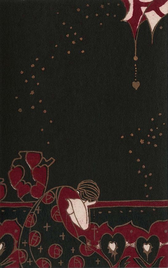 "2/4 - By Kobayashi Kaichi, Taisho-early Showa era, ""Woman lost in sorrow"", from the series Flowers of Darkness"", color woodblock."