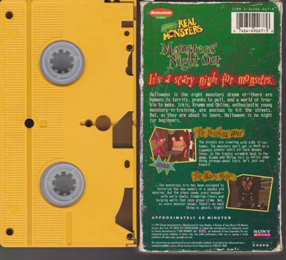 90's Nickelodeon Video AAAHH Real Monsters Vhs Tape