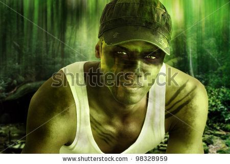 Army Face Paint Stock Photos, Images, & Pictures | Shutterstock