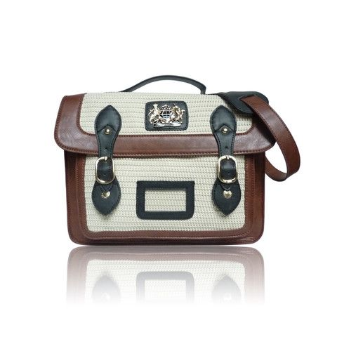 DCUK Cream and Brown Womens Satchel Bag - Satchels and Shoes