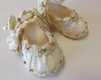 Battesimo di scarpe pizzo avorio bambino Mary Jane PEYDEN