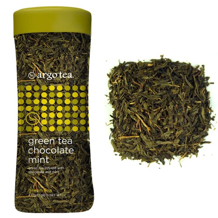 argo tea 39 s green tea chocolate mint premium loose leaf. Black Bedroom Furniture Sets. Home Design Ideas