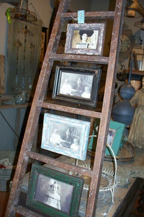 Old ladder repurposed