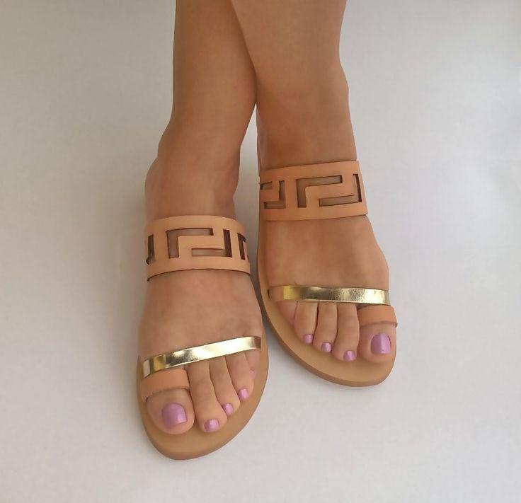Tendance & idée Chaussures Femme 2016/2017 Description meander sandals,ancient greek sandals,leather sandals,womens shoes,greek sandals,handmade sandals,gi