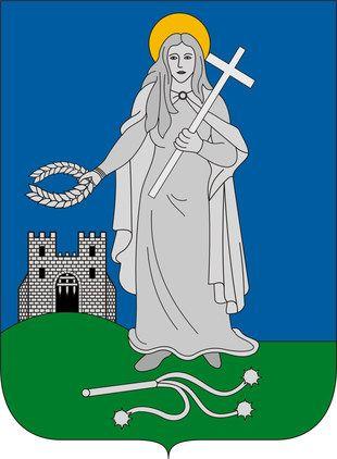Zalaegerszeg város címerében a csücskös aljú zöld pajzstalp közepén, a pajzs kék mezejében álló, vezeklő ruhás Bűnbánó Magdolna alakja ezüstszínű,...