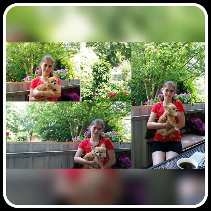 bei meiner Oma auf dem Balkon | Oma