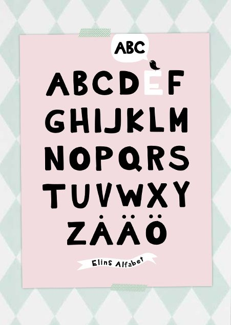 Personlig ABC-poster  #abcposter #barnaffisch #namntavla #barnposter