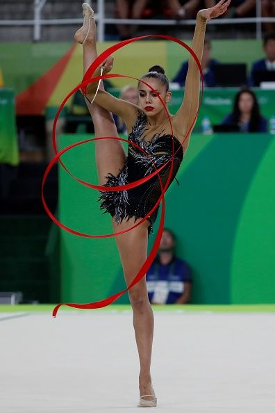 Russia's Margarita Mamun competes in the individual all-around qualifying event of the Rhythmic Gymnastics at the Olympic Arena during the Rio 2016 Olympic Games in Rio de Janeiro on August 19, 2016
