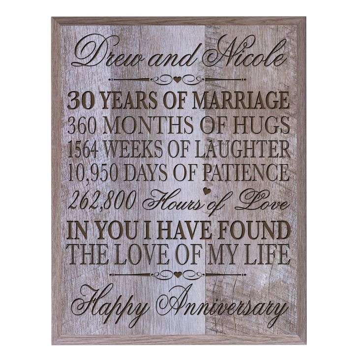 Personalized 30th Anniversary Gifts for him her Couple