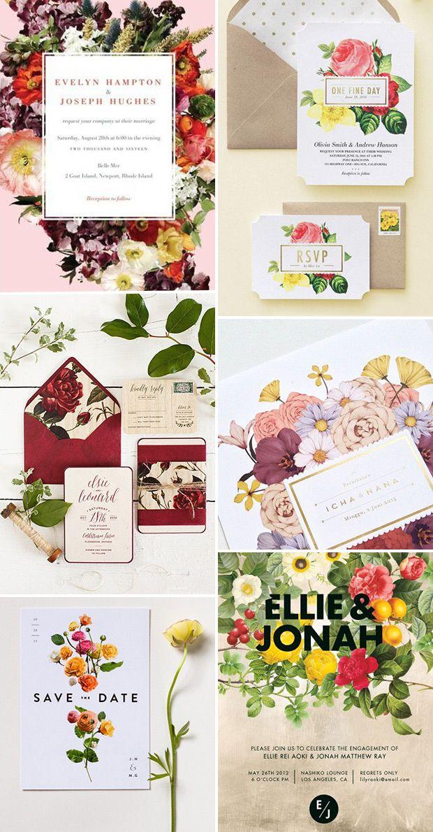 Wedding Invite Crush - Dramatic Floral Wedding Stationery | www.onefabday.com