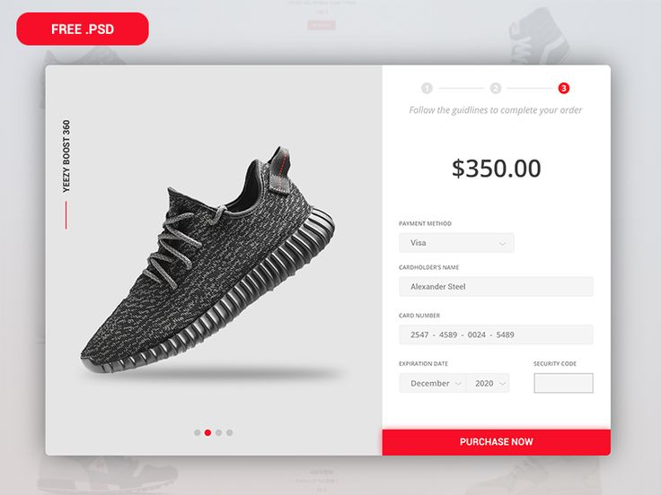 Credit card checkout - Daily UI #002