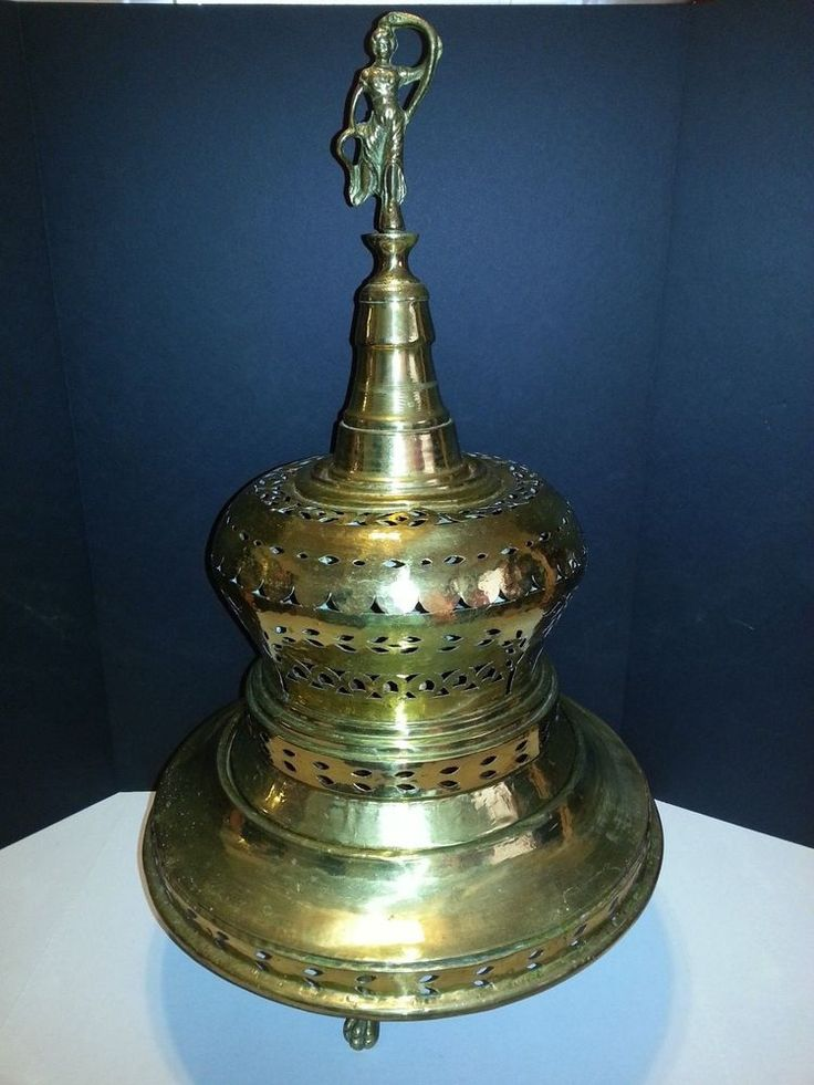 VINTAGE TURKISH BRASS BRAZIER WITH COPPER COOKER EARLY 20TH CENTURY