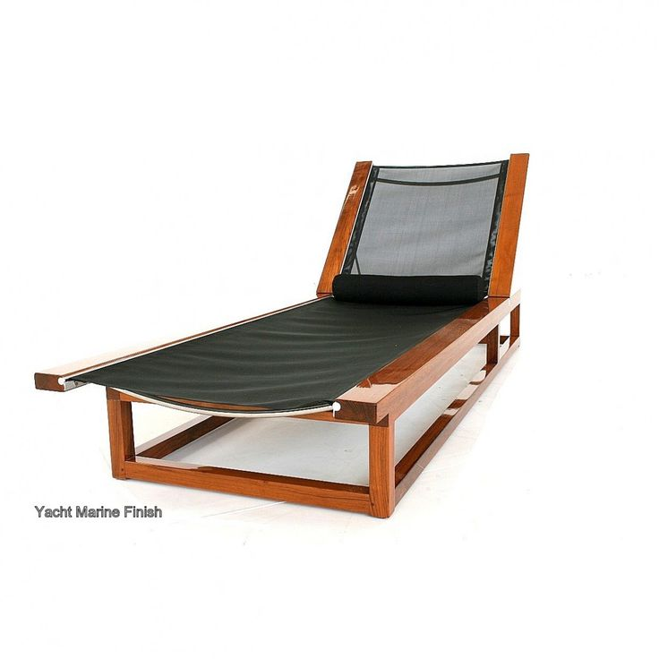 Teak Textilene Lounger. Teak Outdoor FurnitureTeak ...