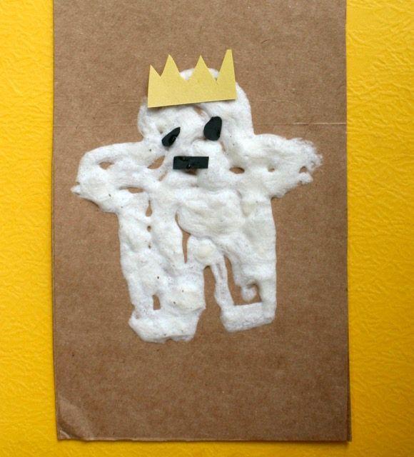 Puff Paint Beekle Craft - The Adventures of Beekle: The Unimaginary Friend - offtheshelfblog.com