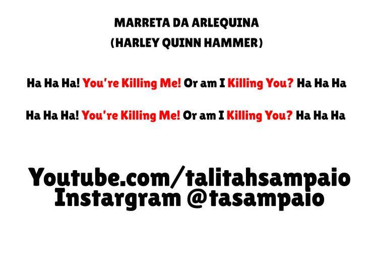 Marreta Arlequina Harley Quinn Hammer #arlequina #harleyquinn #diy #costume #diyharleyquinn #comofazeraroupadaarlequina