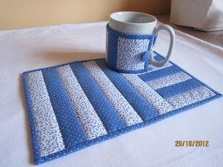 Deia Patchwork: Kit tapetinho para chá (Mug Rug) http://www.facebook.com/DeiaPatchwork http://deiapatchwork.blogspot.com