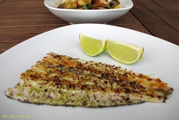 Prueba esta sensacional corvina aromatizada cocinada a la plancha que comparten desde el blog PER SUCAR-HI PA.