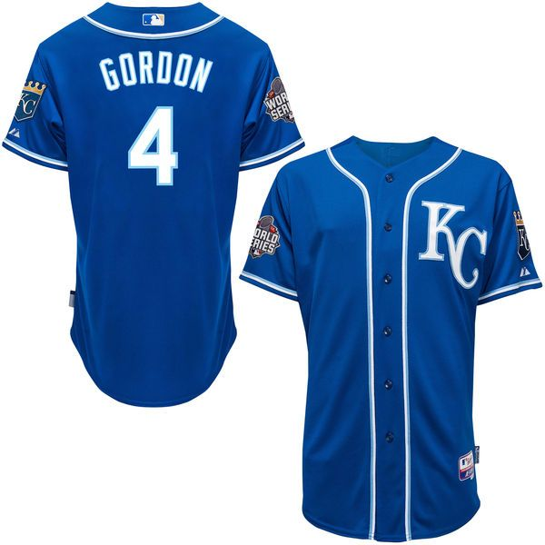Alex Gordon Kansas City Royals Majestic Authentic Player Jersey with 2015  World Series Patch - Royal