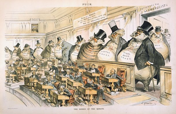The Bosses of the Senate by Joseph Keppler - Criticism of the United States government - Wikipedia, the free encyclopedia Amazingly this was in 1880's! More so today.