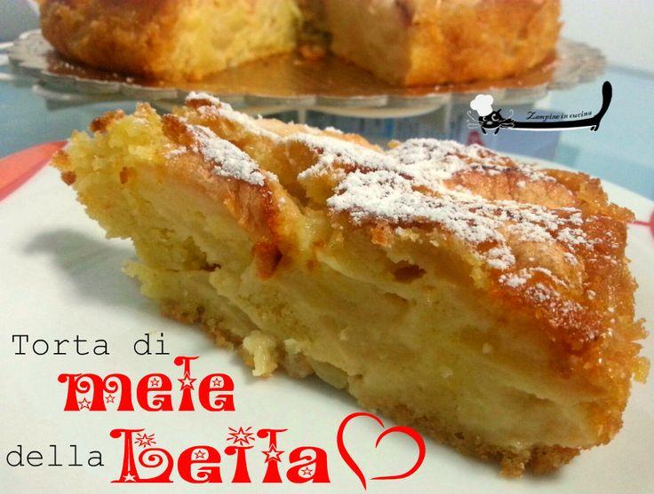 Torta di mele della Leila, mia mamma, bravissima in cucina,davvero tanto con un'unica pecca, i dolci :) Lei era una di quelle donne che aprono il frigo e ...
