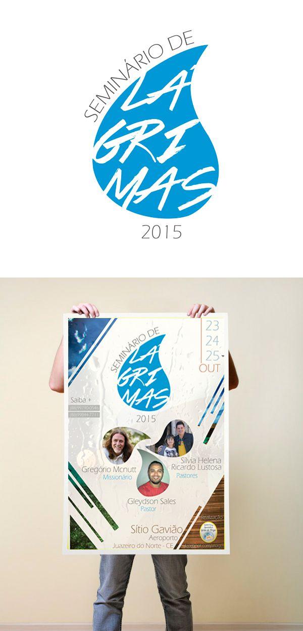 Elaboração da logo e cartaz do evento Seminário de Lágrimas