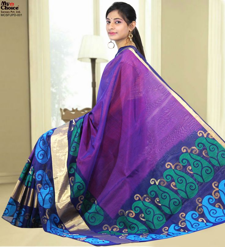Beautiful Fancy Uppada Design Saree