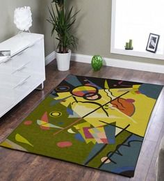 AmazingHind Abstract Design Cotton Handmade Rug