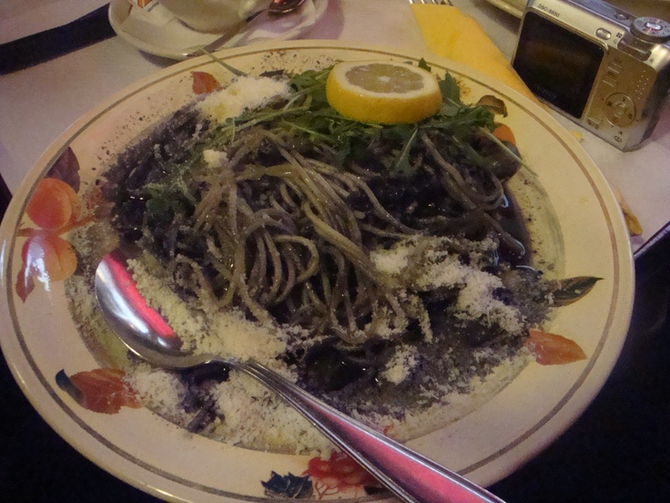 Cuttlefish pasta, really delicious