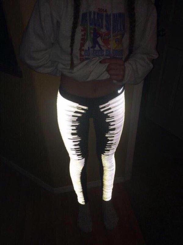 (1) glow in the dark nike leggings !!