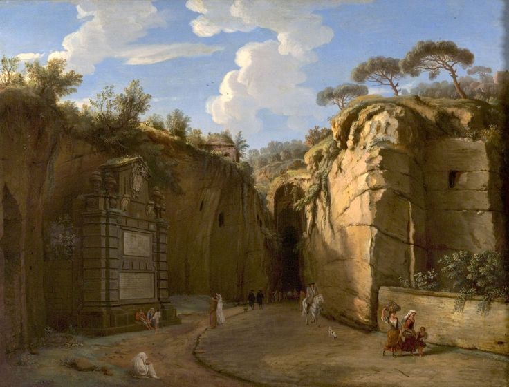 The Grotto of Pozzuoli, with Virgil's Tomb ; Artist: Gaspar van Wittel (known as Gaspare Vanvitelli) ; Year: 1702