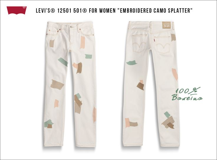 "Levi's® 12501 501® For Women ""Embroidered Camo Splatter"""