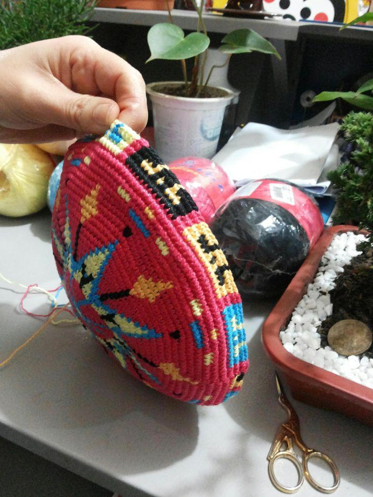 Canto do Pano Artesanato: Começando mais uma bolsa no estilo Wayuu