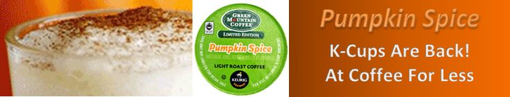 They're back! Pumpkin Spice K-cups. I love this time of year. 9.5 Reasons Why You Should Drink Coffee I still like these reasons. http://themorningcoffeecup.com/why-you-should-drink-coffee/