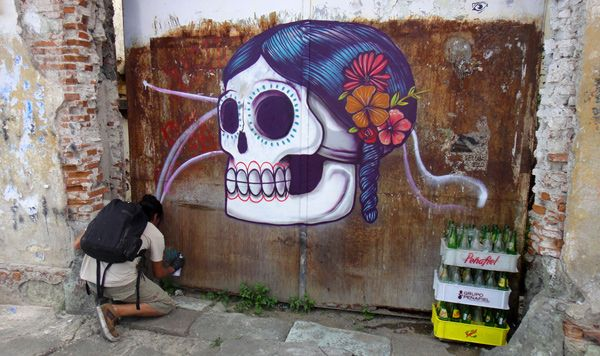 Just this past week, Mexico City-based Saner was in Oaxaca for the 2012 edition of the Guelaguetza, where he painted a few murals that, as our Juxtapo...