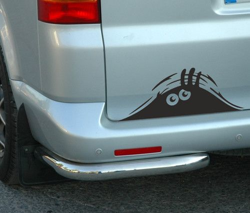 Peeking Monster for Cars Walls vw t4 t5 Funny Sticker Graphic Vinyl Car Decal U008 $3.69