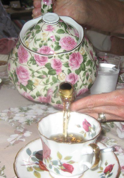 Tea Etiquette: In order for one not to spill the hot liquid onto oneself, the proper way to hold the vessel of a cup with no handle is to place one's thumb at the six o'clock position and one's index and middle fingers at the twelve o'clock position, while gently raising one's pinkie up for balance.