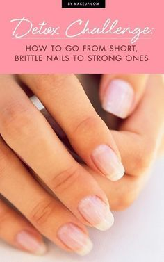 No one should have to live with short, brittle and dry fingernails. Follow our simple detox to learn the best way to make your nails healthy and strong. You'll be glad you followed our easy guide before your next manicure.
