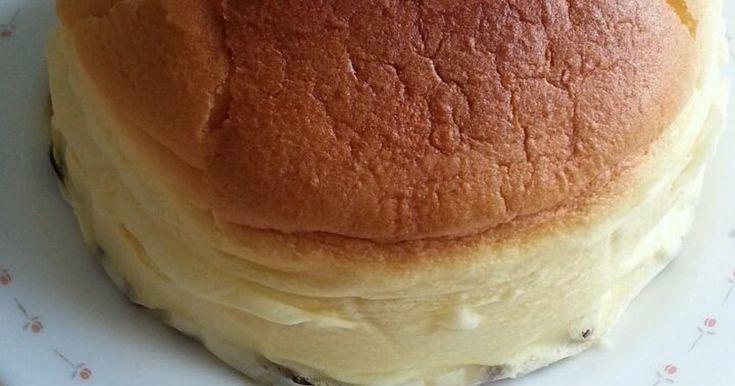 りくろーおじさん風チーズケーキ(❀'ω'❀)クリームチーズなしピザ用チーズで作れるよ