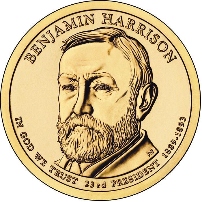 Benjamin Harrison Liberty gold coin. Gold, gold coins, liberty gold coin, gold investment.