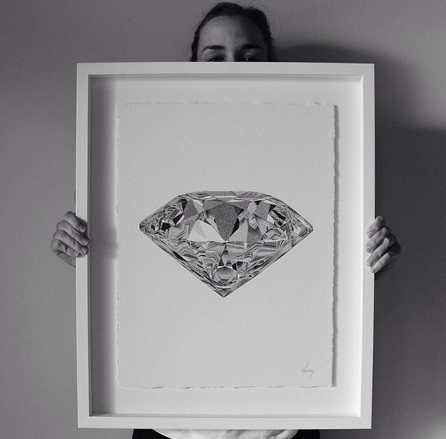 Art // Pen on Paper // CJ Hendry - Diamond // my favourite!