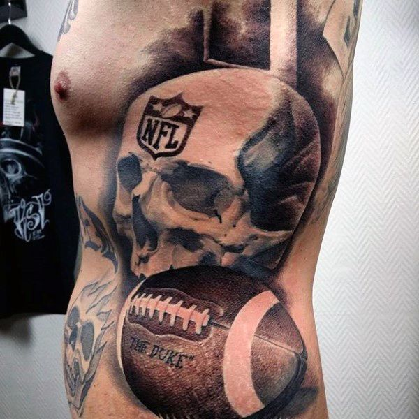 70 Football Tattoos For Men
