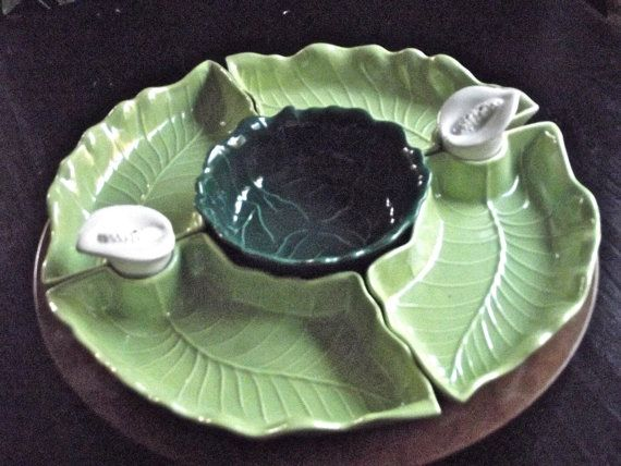 Nice Vintage Lazy Susan With Serving Dishes And Salt And By YBINUCAROL, $40.00
