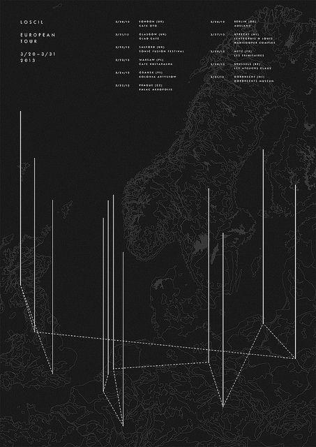 Loscil European Tour Poster, via Flickr.