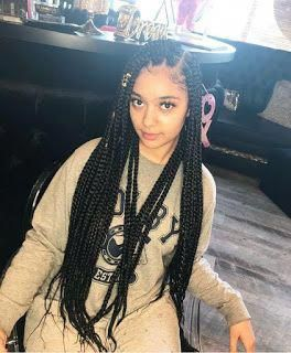 Stylish black hairstyles braids. #blackhairstylesbraids