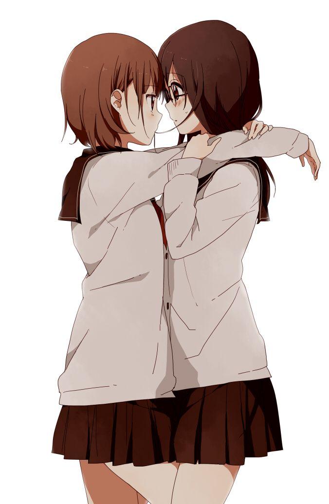 「何してるの…?」/「なもり」のイラスト [pixiv] (via http://www.pixiv.net/member_illust.php?mode=medium_id=25950227 ) #anime #yuri #shoujo-ai